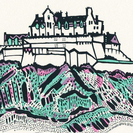 Small Edinburgh Castle screen print