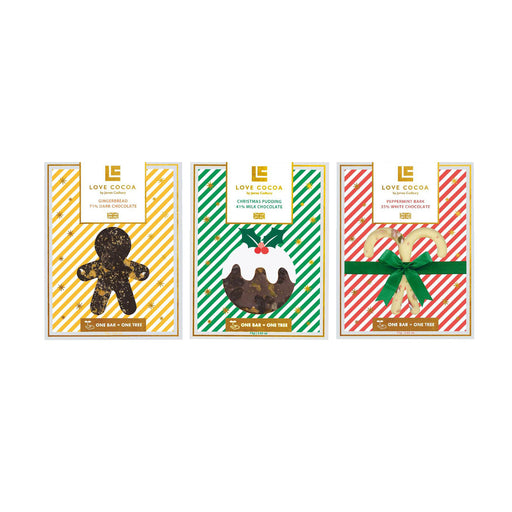 Love Cocoa 3 Christmas Chocolate Bars