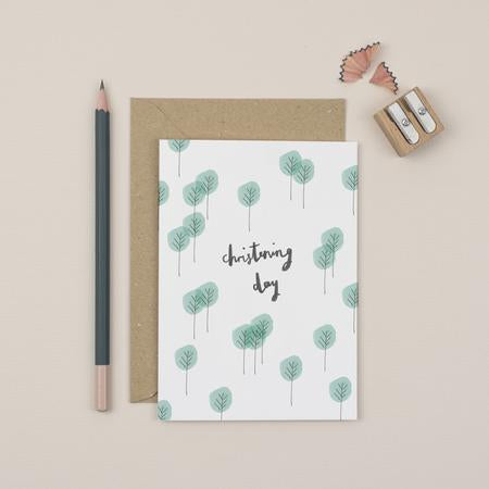 Trees Christening Day Card