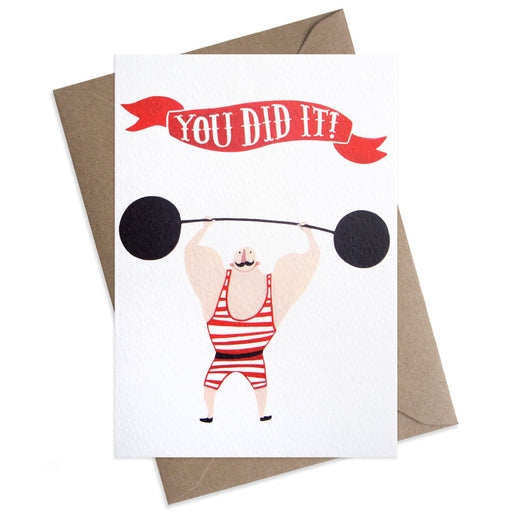 Strongman You Did It Card
