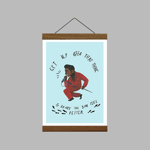 James Brown Quote A4 Art Print