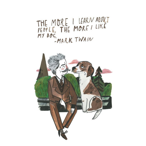 A4 Mark Twain Dog Quote Art Print