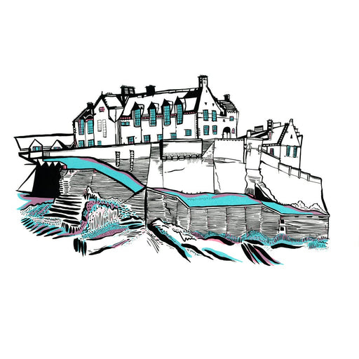 Large Edinburgh Castle screen print