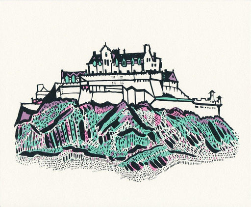 Small Edinburgh Castle screen print by Susie Wright