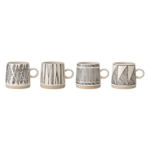 Large Eliana Aztec Stoneware Mug Set of 4