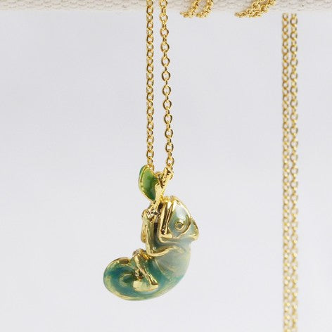 Chameleon Enamel Necklace