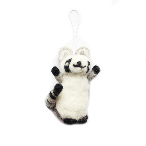 Small Grey and White Lemur Christmas Decoration