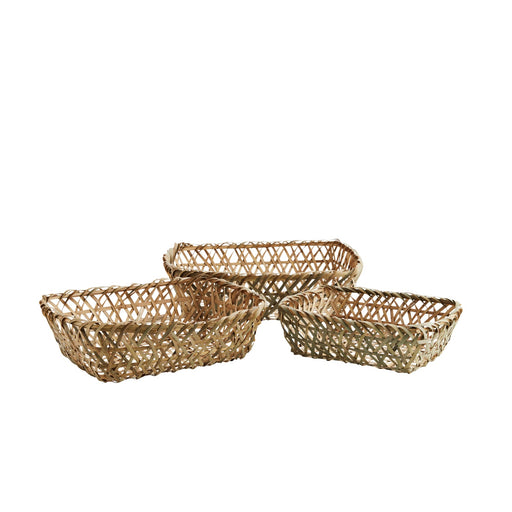 Set Of Three Bamboo Baskets