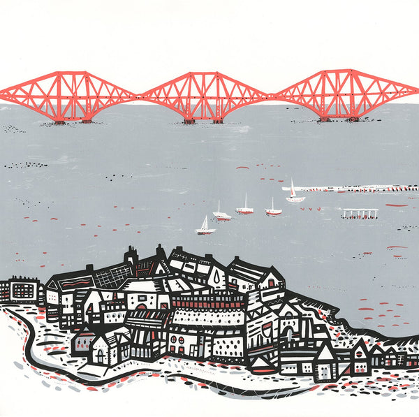 LARGE Forth Rail Bridge screen print by Susie Wright