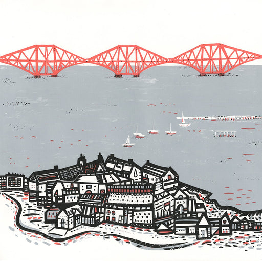 SMALL Forth Rail Bridge screen print by Susie Wright