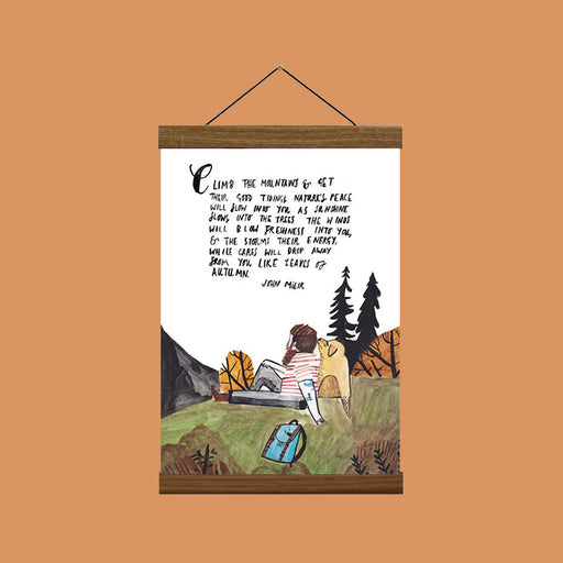 John Muir Quote Art Print