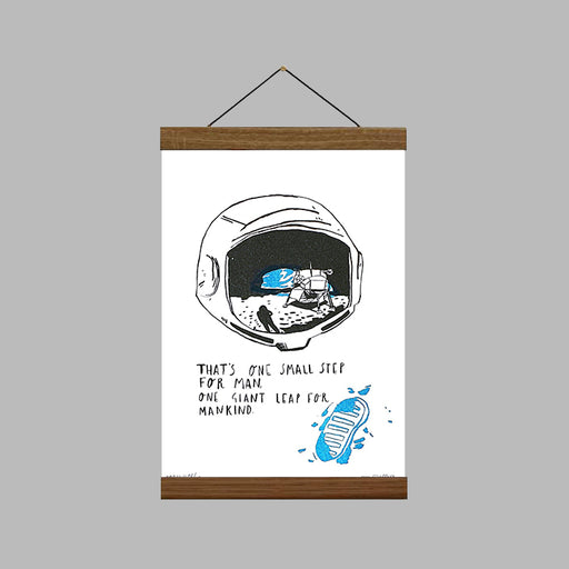 That's One Small Step for Man, One Giant Leap for Mankind Art Print