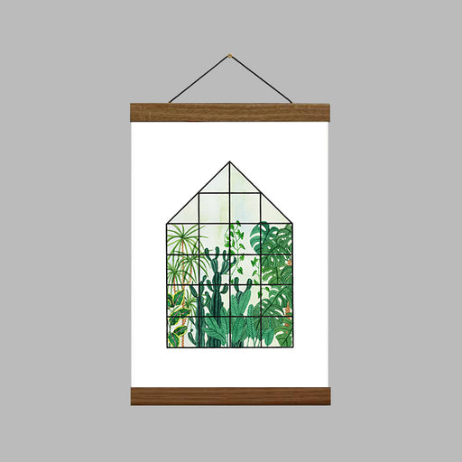 A4 Tropical House Art Print