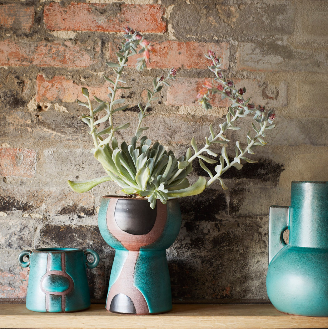 Green And Terracotta Vase