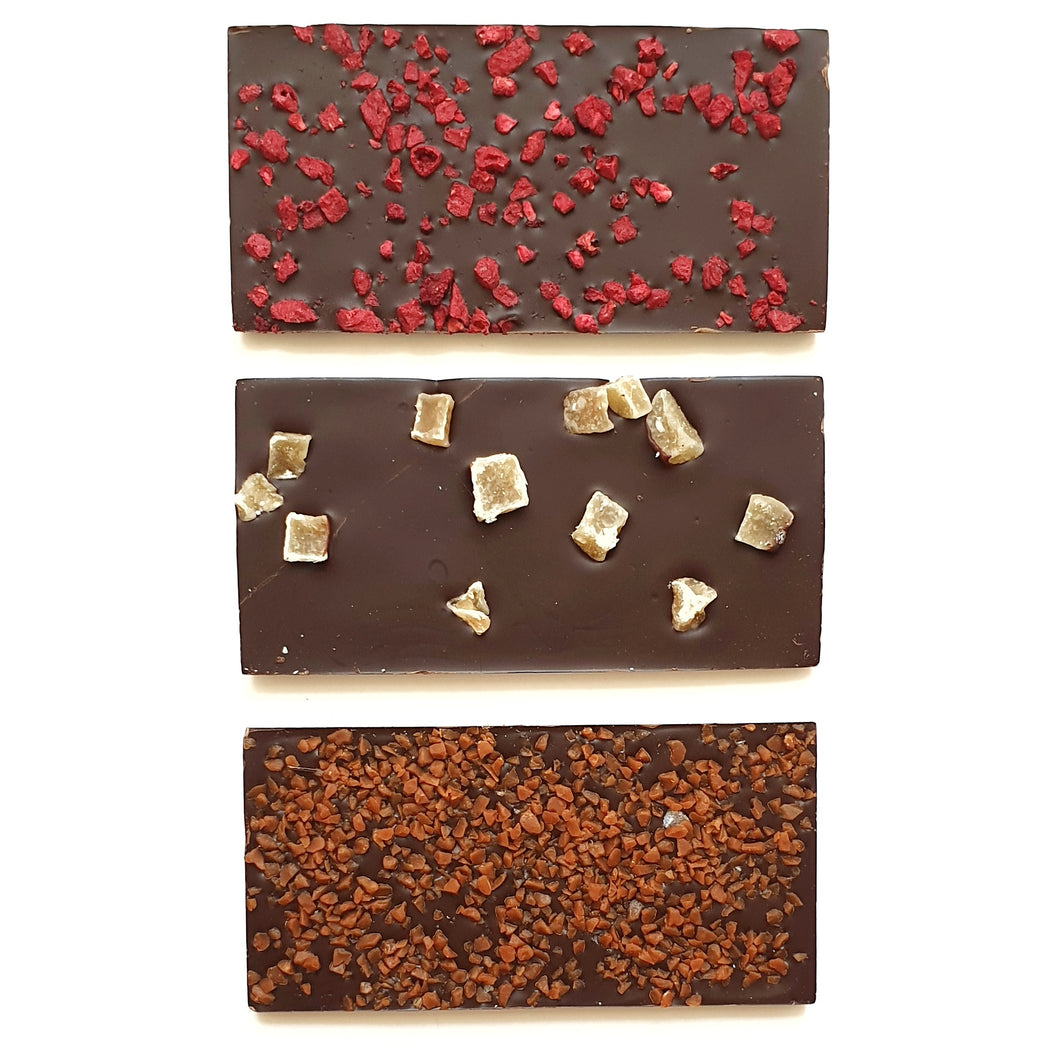 Trio of Dark Chocolate Bars