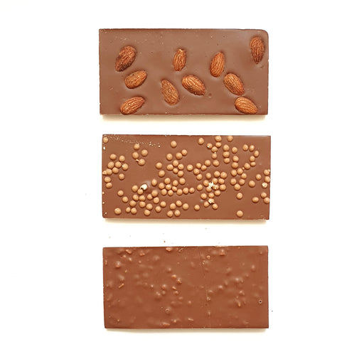 Trio of Milk Chocolate Bars