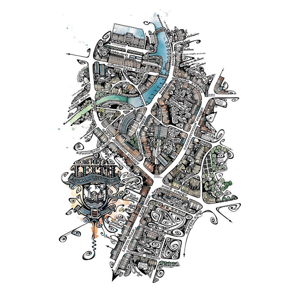 Map of Leith in Colour by Jenny Proudfoot