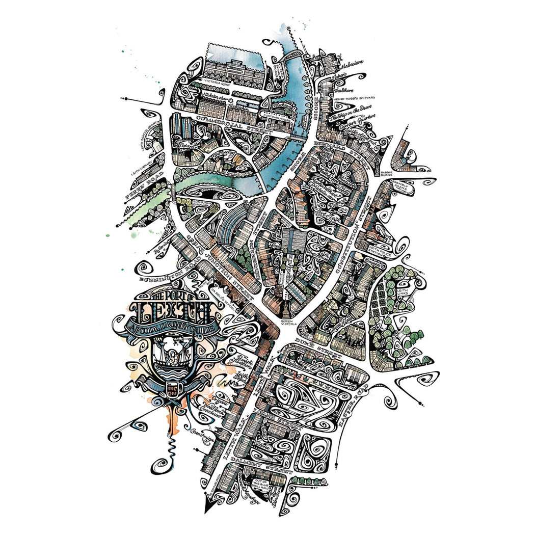 Map of Leith in Colour