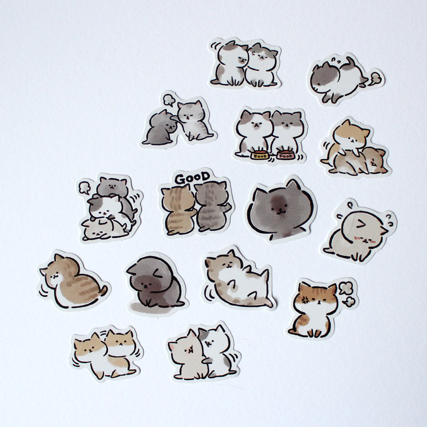 Kawaii Chubby Cats Sticker Set