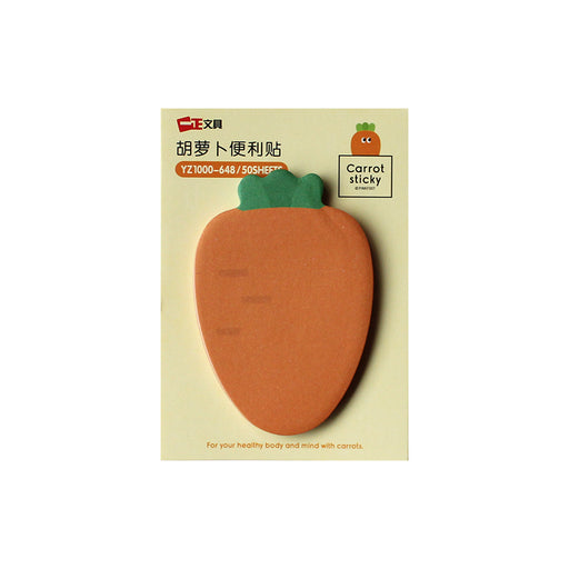 Large Carrot Sticky Notes