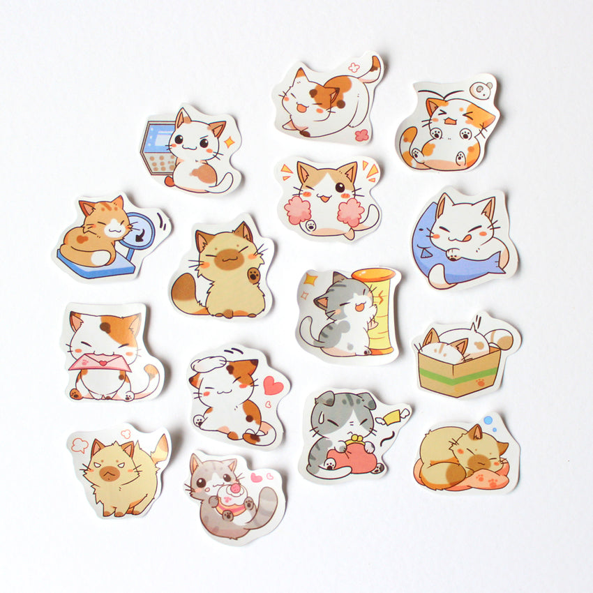 Kawaii Kitten Sticker Set