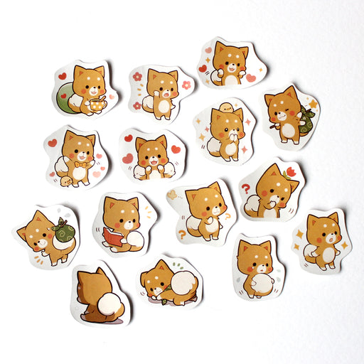 Kawaii Red Fox Sticker Set