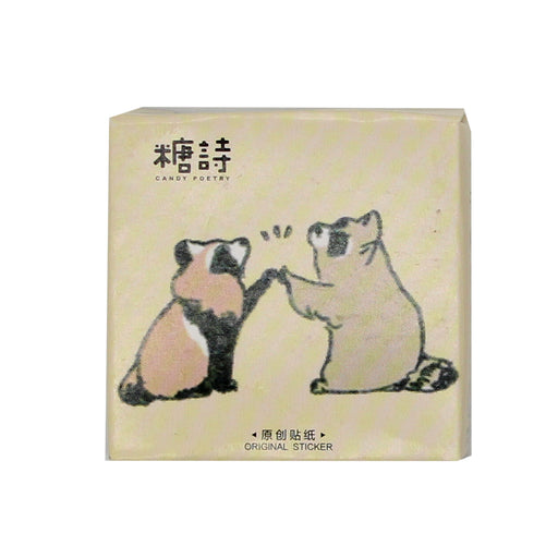 Kawaii Red Panda and Racoon Sticker Set