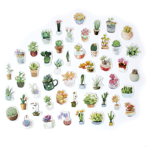 Kawaii Potted Plants Sticker Pack