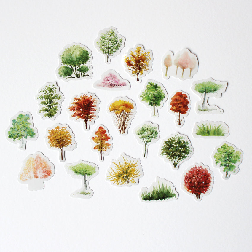 Kawaii Spectacular Trees Sticker Set