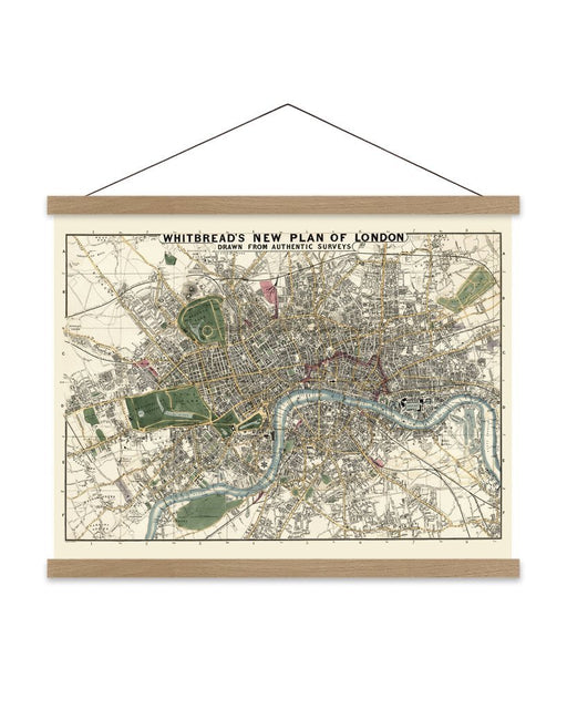 Map of London by The Dybdahl Co. - Medium