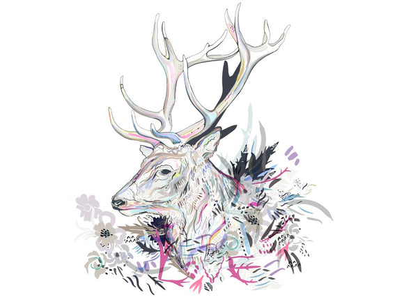 Love Stag print by Susie Wright