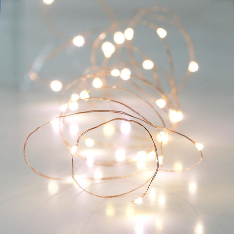 Copper Battery Powered Wire Lights