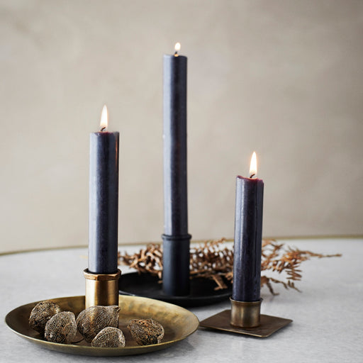 Square Metal Candle Holders - Brass