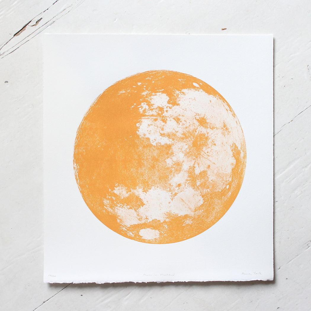 Moon in Mustard Screen Print