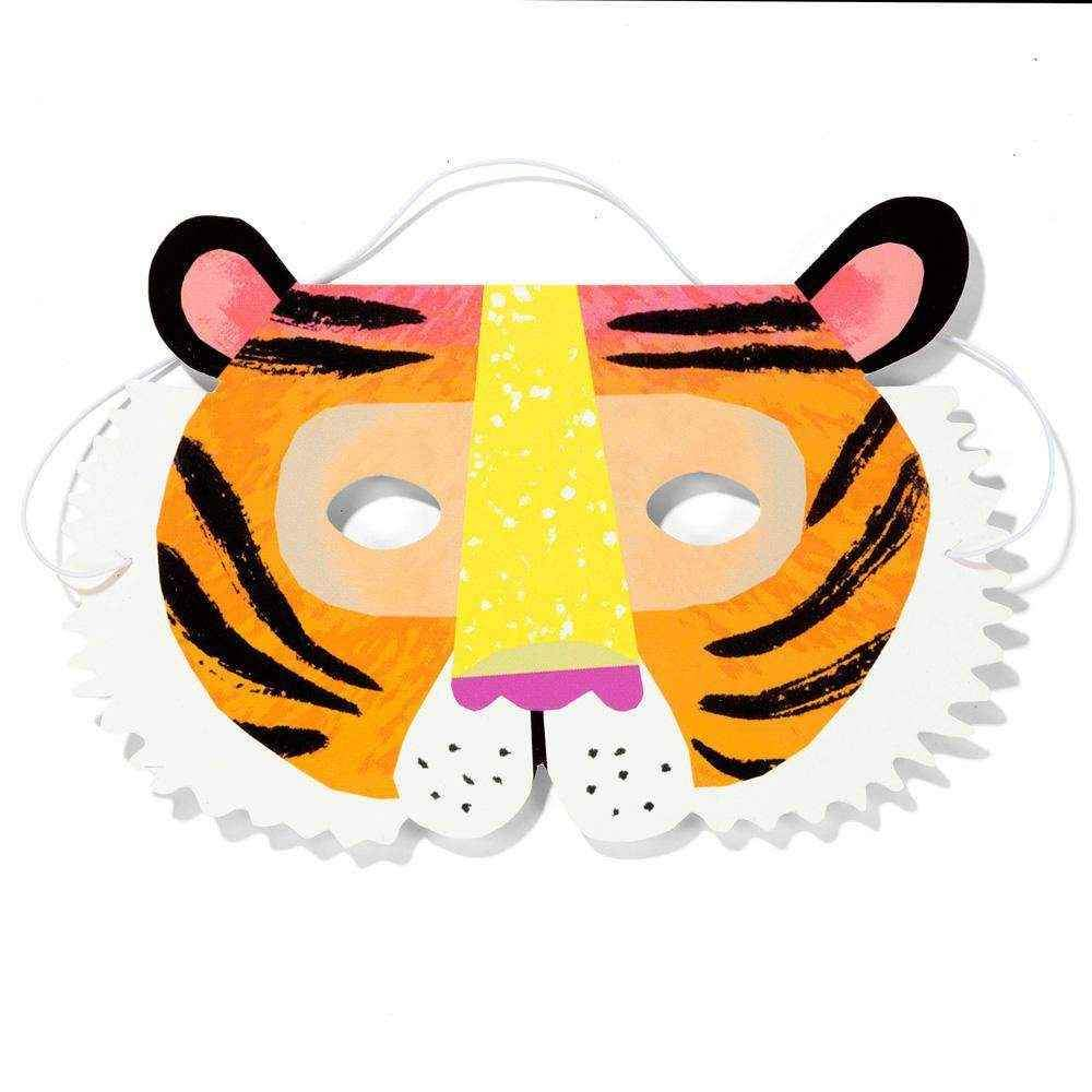 Set of 8 Party Animals Paper Face Mask