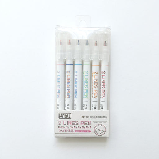 Two Lines Pen Set of Six