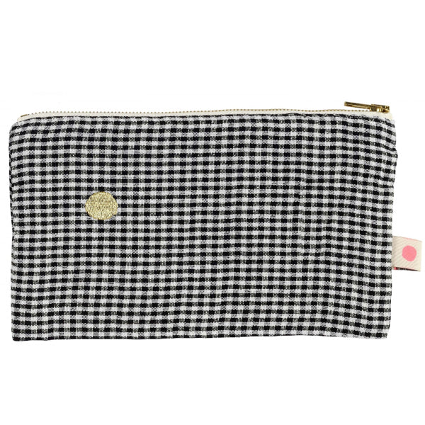 Ernest Pouch in Caviar Check
