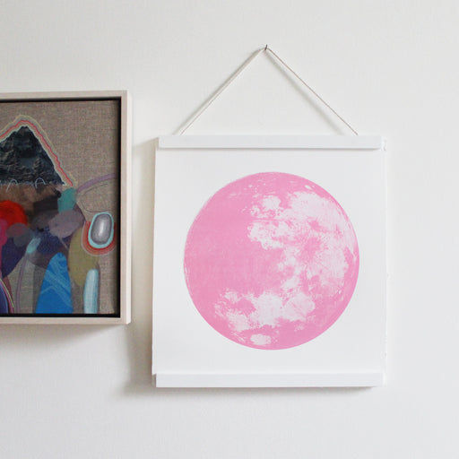 Pink Moon in Powder Pink Screen Print