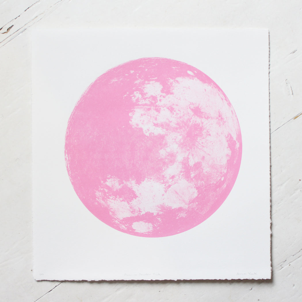 Moon in Powder Pink Screen Print