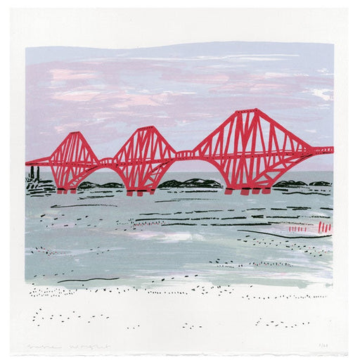 Red Forth Rail Bridge screen print