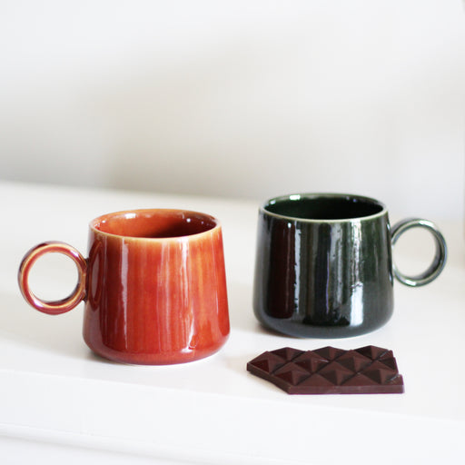 Red Ceramic Stoneware Mug