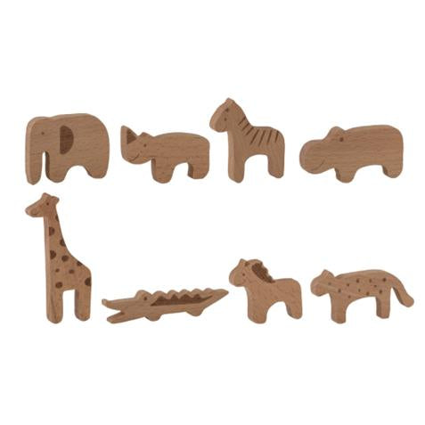 Wooden Zoo Animal Toy Set