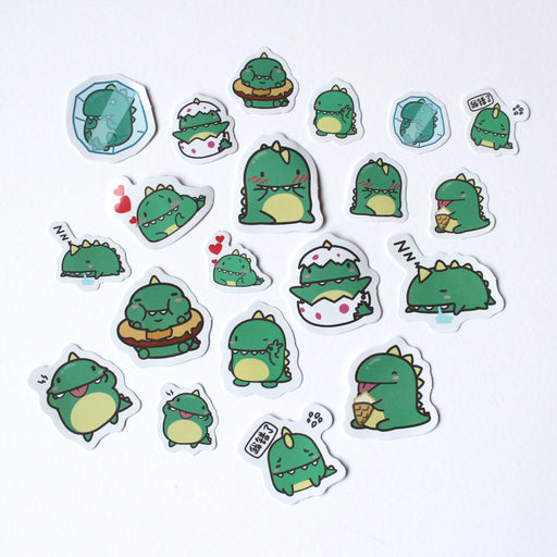 Kawaii Dinosaur Sticker Set