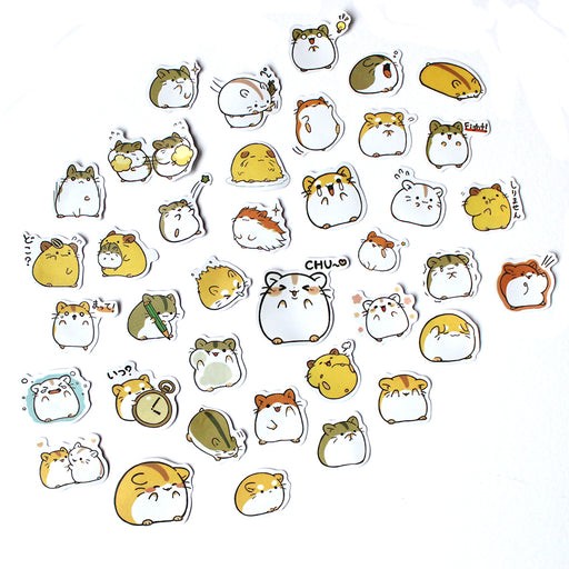 Kawaii Hamster Sticker Set