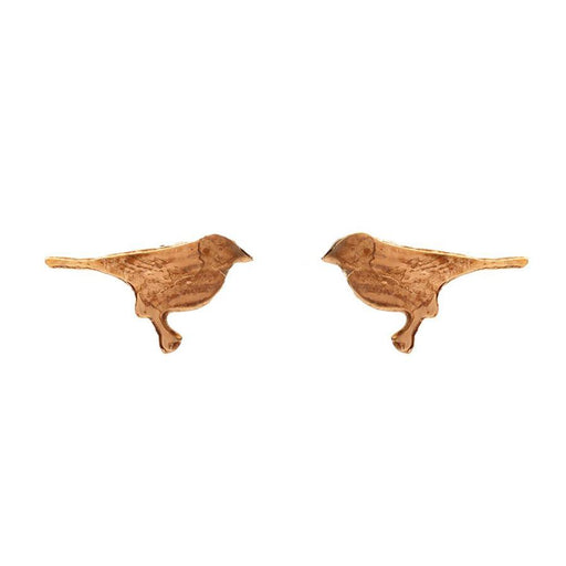 Tiny Gold Vermeil Bird Stud Earrings