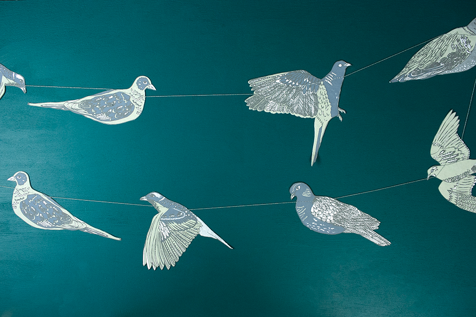 Turtle Doves Paper Garland