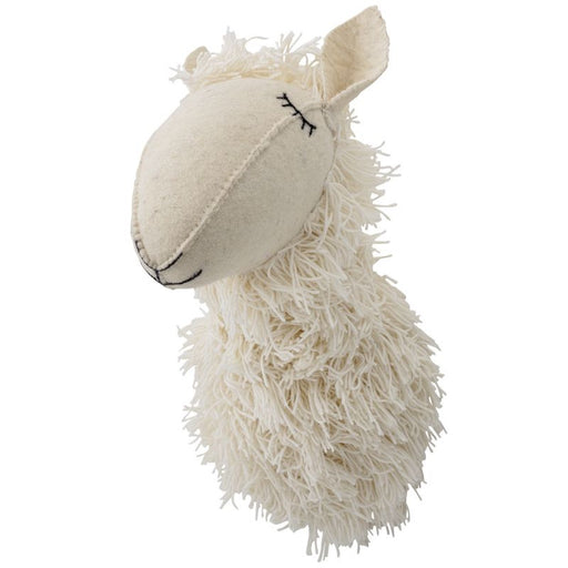 Large Cream Textile Llama Wall Hanging