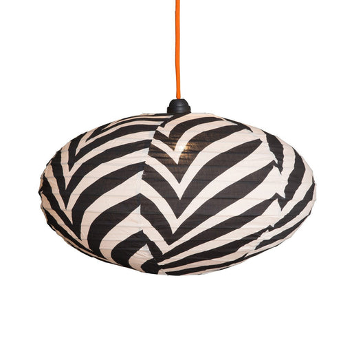 Large 80cm  Cream and Black Zebra Cotton Pendant Lampshade