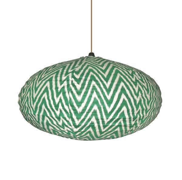 Large Green Zigzag Lampshade