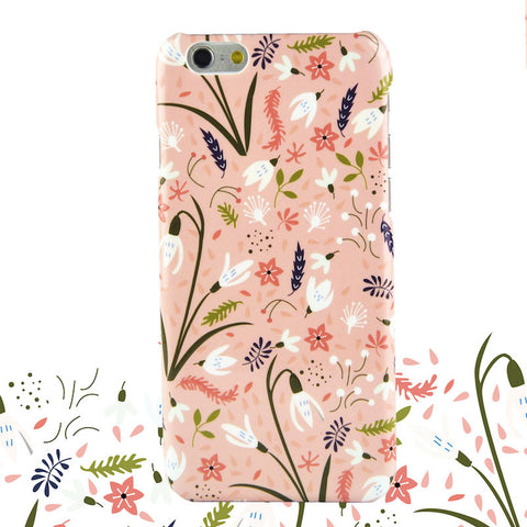 ARU Pink Flowers suojakuori iPhone 7:lle - Mobile Gadgets
